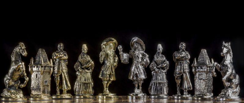 Šach Francúzky Pokovovaný a Patinovaný