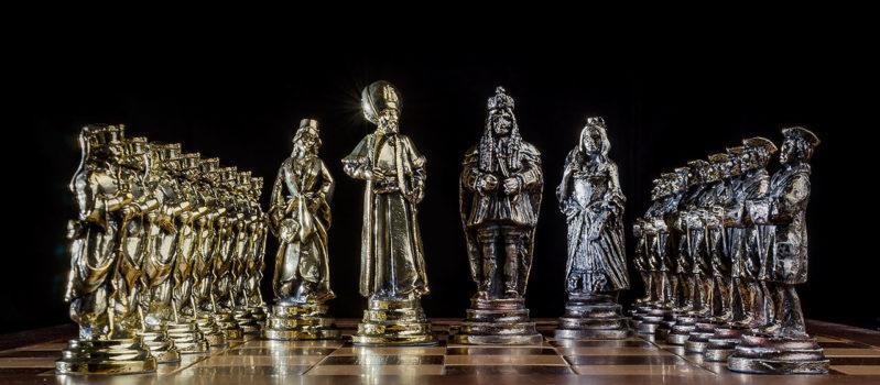 Šach Habsbursko Osmansky pokovovaný a patinovaný