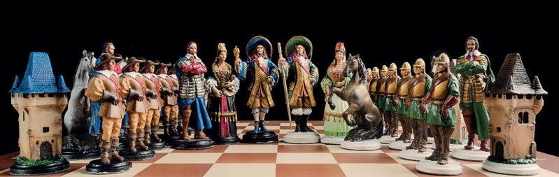 Šach Francúzky ručne maľovaný