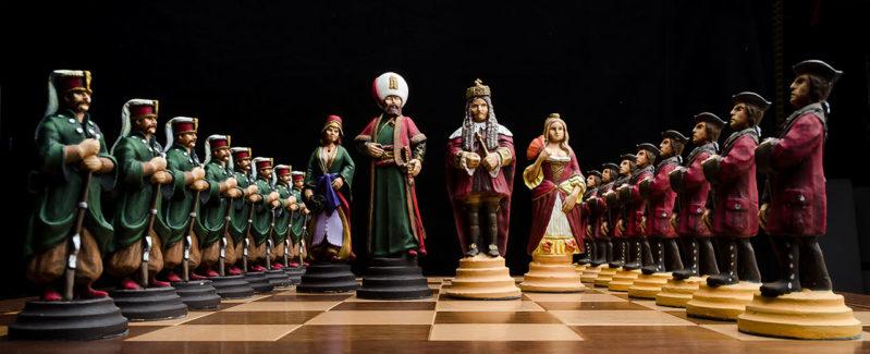 Šach Habsbursko Osmansky ručne maľovaný