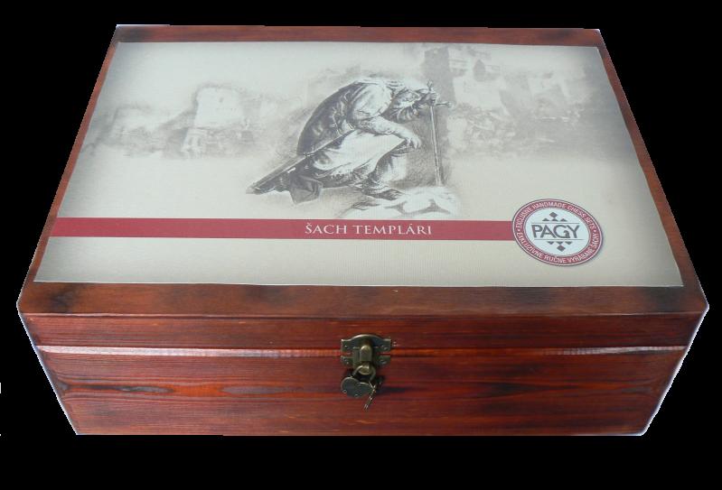 Drevená truhlica Templar