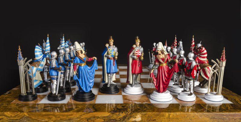 Šach Uhorský ručne maľovaný